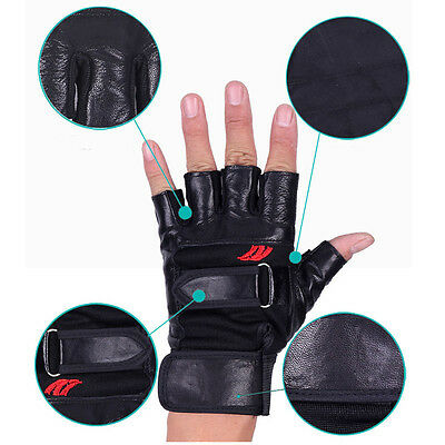 Training Fitness Weight Lifting Gloves Gym Workout Wrist Wrap Train Exercise