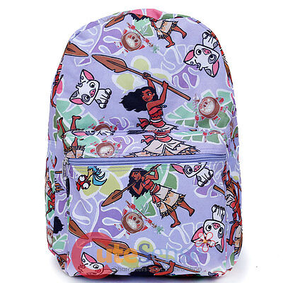 "Disney Moana School Backpack Lunch Bag Set 12"" Grils Book Bag Insulated 2pc H"