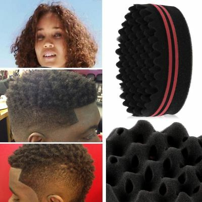 Double Sided Barber Hair Sponge Brush Dreads Locking Twists Coil Afro Curl Wave
