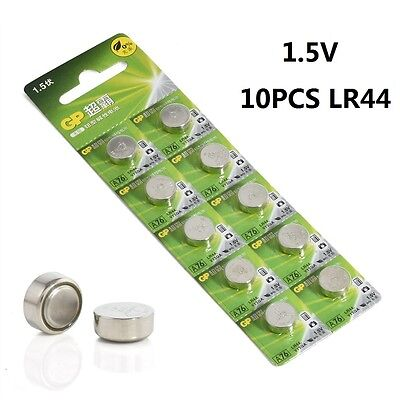 10pcs Set Alkaline A76 LR44 batteries 1.5V AG13 357 V13GA L1154 SR44 NEW 2019