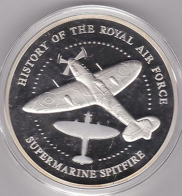 2008 Boxed 5 Ounce Silver Proof Medal Spitfires And Certificate