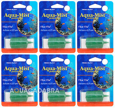 Penn Plax Aqua-Mist Airstone 3.8cm x 2.7cm - pack of 6! Aerates your water