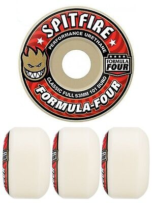 Spitfire Wheels F4 Formula 4 Red 53mm 101d FREE POST Four Skateboard Tyres