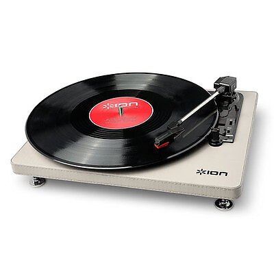 Brand New Ion Compact Lp 3-Speed Turntable With Usb Digital Conversion - Cream