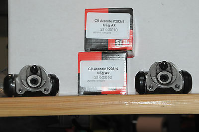 2 cylindres roue 25.4mm  peugeot 203,403, simca aronde renault frégate 21440010