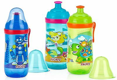 Nuby Busy Sipper Toddler Beaker 18-24m - choose your colour!