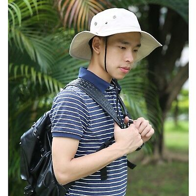 Men's Bucket Hat Side Snap Boonie Hat Outdoor UV Sun Protection Fishing Cap