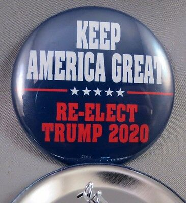 WHOLESALE LOT OF 22 KEEP AMERICA GREAT RE-ELECT TRUMP 2020 BUTTONS make $ USA us