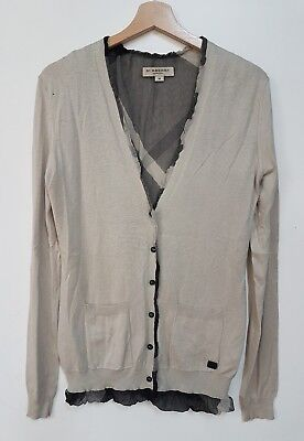 Burberry  Maglione Cardigan Donna Vintage Anni 90 Burberry  Sweater  Vintage M