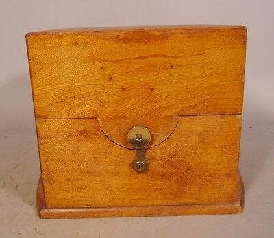 Large Outer Antique Wood Box for Marine Chronometer Clock