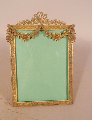 Fancy Rococo & Swag Brass or Bronze Gold Gilt Neo Classical StylePicture Frame