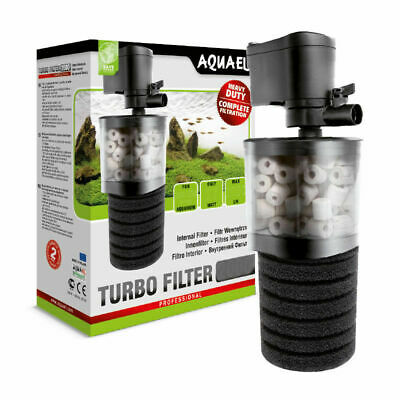 Aquael Turbo Internal Aquarium Fish Tank Filter + Media 2000L/h Tanks over 350L