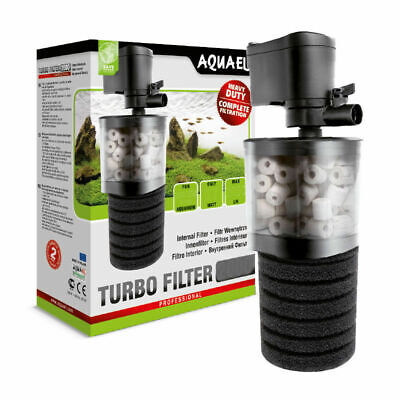 Aquael Turbo Internal Aquarium Fish Tank Filter Free Media - 500L/h Tanks <150L