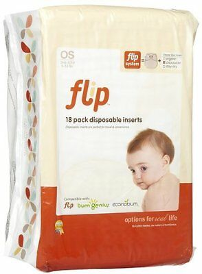 NEW Flip Disposable Diaper Inserts - 18 Count - Size:One Size