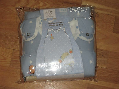 next cheeky monkey boys blue sleeping bag age 1.5 - 3 years brand new in pack