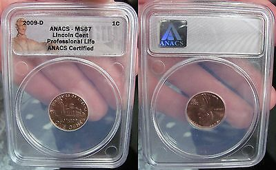 2009 D Lincoln Cent Inaugural Edition-Professional Life ANACS Certified MS67 RD