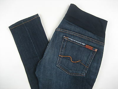 Seven 7 For All Mankind Maternity Jeans The Skinny Stretch Size 30 Medium