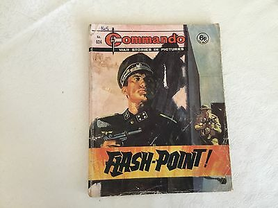1972 Commando War Stories Comic - No 624 Flash-Point