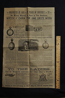 Victorian Advertising Catalog, Bluine Mfg Co, Concord Junction Mass, 1890s