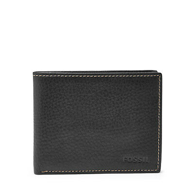 Fossil Men's Lincoln Genuine Leather Bifold Wallet with Flip ID Slim Billfold