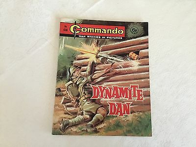 1972 Commando War Stories Comic - No 638 Dynamite Dan