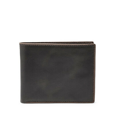 Fossil Men's Anderson Genuine Leather Bifold Wallet with Flip ID Slim Billfold