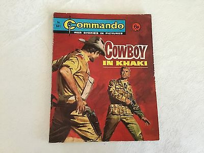 1972 Commando War Stories Comic - No 641 Cowboy In Khaki