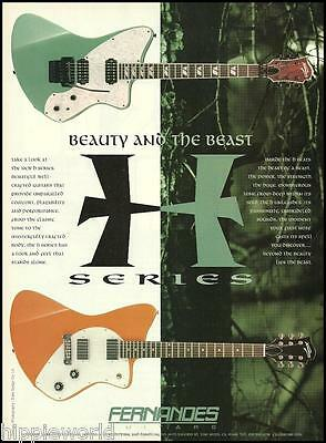 The 1995 Fernandes H Series Guitar ad 8 x 11 advertisement print