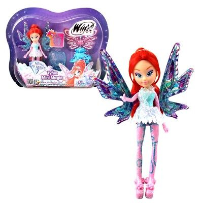 Winx Club - Tynix Mini Magic Puppe - Fee Bloom mit Verwandlungsfunktion