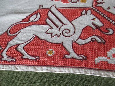 Vintage Tablecloth Assisi Hand Embroidery - Linen