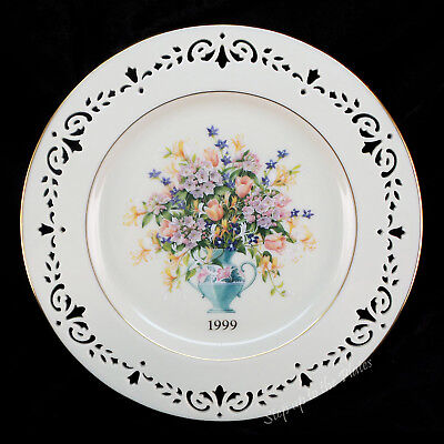 Lenox China CONNECTICUT 1999 Colonial Bouquet Plate 5th in the Series