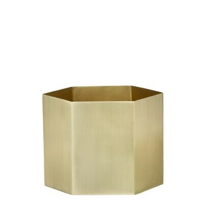 Hexagon Blumentopf Brass XL Ferm Living