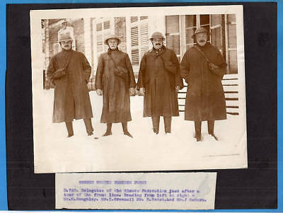 WWI Delegates Miners Federation Visit Western Front Original Press Photo