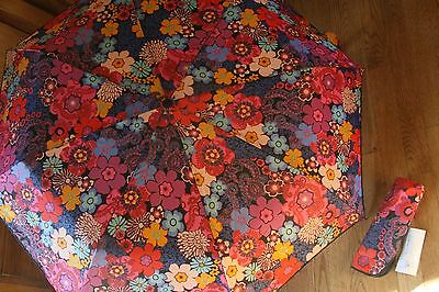 Vera Bradley Umbrella Floral Fiesta Auto Open Travel NEW