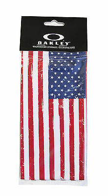 Brand New Oakley America Flag MicroBag Microclear Cleaning / Storage Bag