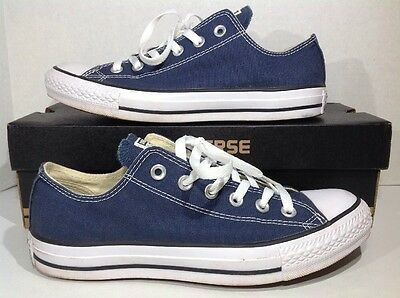 Converse Mens Size 7 / Women's Size 9 All Star OX Blue Canvas Sneakers ZH-216
