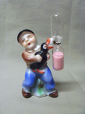 Vintage Little Boy with Goose Hourglass Kitchen Egg Timer-Foreign