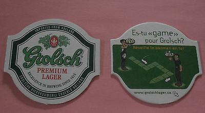 Grolsch Premium Lager Imported Holland Wake the Barman Coaster / Beer Mat New