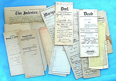 Lot of legal documents and etcetera from the early 20th century