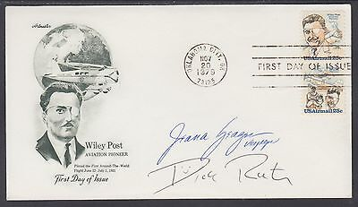 Col. Dick Rutan & Jeana Yeager, Voyager Mission, signed Wiley Post FDC