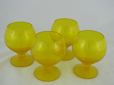 "4 Morgantown Glass Montego Tulip Wine in Pineapple Glass, 4"" tall"