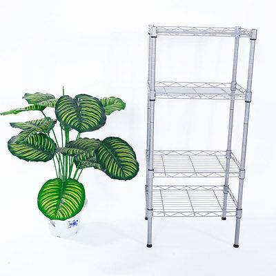 Storage Rack 4-Tier Layer Organizer Kitchen Shelving Steel Wire Shelves Home