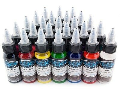 Fusion Ink 25 St. - 30 ml Profi Tattoo Ink Tattoo Farben Tinten Color Set Neu