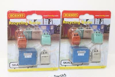 "2 x Hornby Skaledale R8578 Pack of 4 Recycling Banks  ""New"" FNQHobbys SW563"