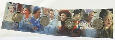 Her Majesty The Queen Crown Portrait Collection 4 coins cover Cupro-Nickel
