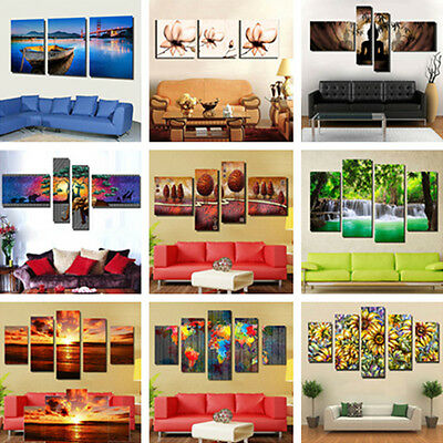 Unframed Colorful Modern Art Canvas Oil Painting Picture Print Wall Decor UK