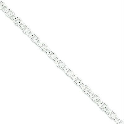 "925 Sterling Silver 16"" Fancy Rolo Chain 6.25m Necklace"
