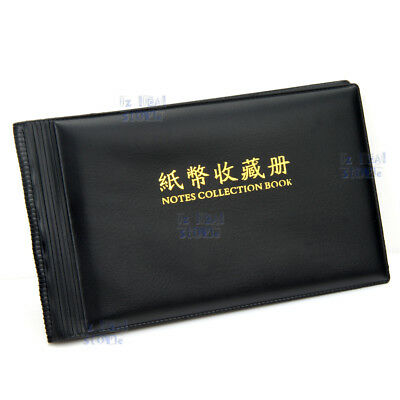 40-Notes Bank Note Stock Collection Collecting Album Storage Money Holder Pocket