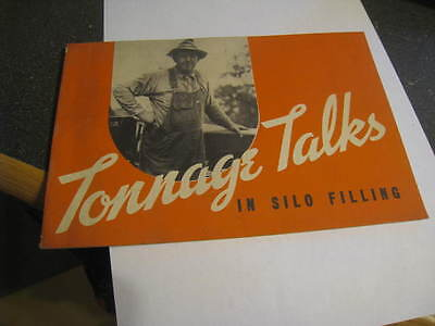 J.I. Case Tonnage Talks in Silo Filling advertising pamphlet