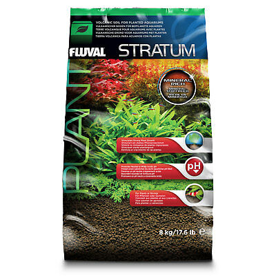 Fluval Plant & Shrimp Stratum Substrate for Aquariums 2kg 4kg or 8kg
